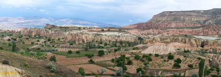 Panoramic view of Cappadocia Stock Image