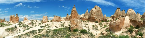 Panoramic view of Cappadocia Stock Images