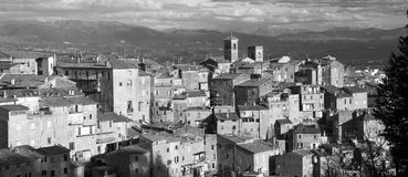 Panoramic view of Caprarola ancient town in Italy Royalty Free Stock Photo