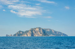Panoramic view of Capri Island from Sorrento Royalty Free Stock Photography
