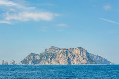 Panoramic view of Capri Island from Sorrento Royalty Free Stock Photos