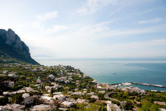 Panoramic view of Capri, Italy Stock Photography