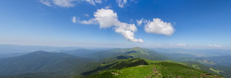 Panoramic view of Carpathian mountains Royalty Free Stock Photography