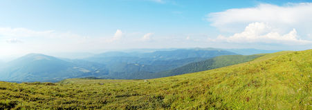 Panoramic view of Carpathian mountains, Ukraine Stock Photography