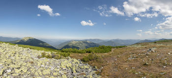 Panoramic view. This is Carpathian mountains in Ukraine. Enjoy Stock Photography