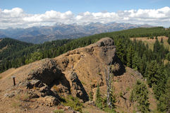 Panoramic view of Cascade mountains Stock Photos