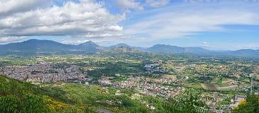 Panoramic view of Cassino city, Italy Stock Photos