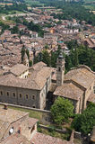 Panoramic view of Castell'arquato. Emilia-Romagna. Italy. Stock Photos