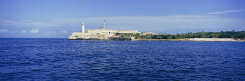 A panoramic view of Castillo del Morro, El Morro Fort, Cuba Royalty Free Stock Photo