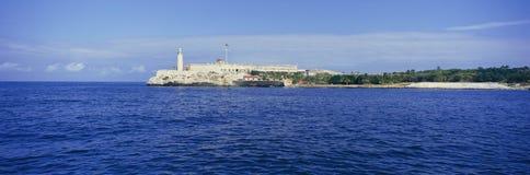 A panoramic view of Castillo del Morro, El Morro Fort, Cuba Royalty Free Stock Photo