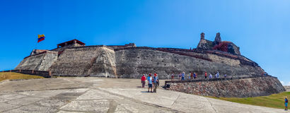 Panoramic view of Castillo San Felipe Barajas Royalty Free Stock Photography