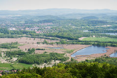 Panoramic view from the castle  Chojnik Stock Photos