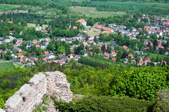 Panoramic view from the castle  Chojnik Royalty Free Stock Images