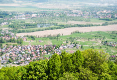 Panoramic view from the castle  Chojnik Royalty Free Stock Photo