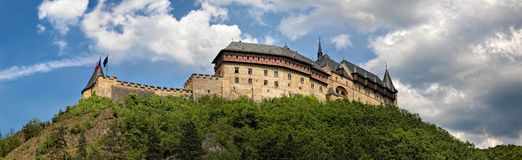 Panoramic view of castle Karlstejn, Czech Republic Royalty Free Stock Image