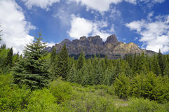 Panoramic view of the castle mountain Royalty Free Stock Photos