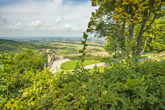 Panoramic view of the castle of Waldenburg Royalty Free Stock Photography