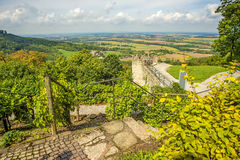 Panoramic view of the castle of Waldenburg Royalty Free Stock Image