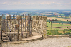 Panoramic view of the castle of Waldenburg Stock Image
