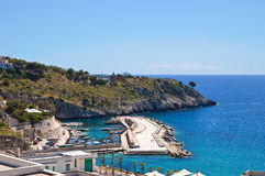 Panoramic view of Castro. Puglia. Italy. Royalty Free Stock Image