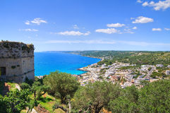 Panoramic view of Castro. Puglia. Italy. Stock Photography