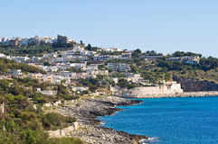 Panoramic view of Castro. Puglia. Italy. Stock Photo