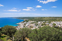 Panoramic view of Castro. Puglia. Italy. Royalty Free Stock Images
