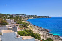 Panoramic view of Castro. Puglia. Italy. Royalty Free Stock Photos
