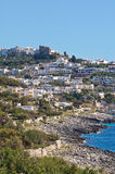 Panoramic view of Castro. Puglia. Italy. Royalty Free Stock Photography