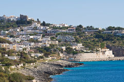 Panoramic view of Castro. Puglia. Italy. Stock Photos
