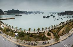 Panoramic view on Cat Ba Royalty Free Stock Photos