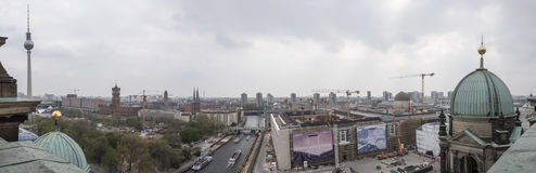 Panoramic view from Cathedral of Berlin, Germany Royalty Free Stock Photography