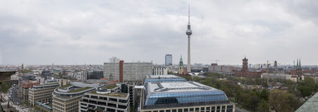 Panoramic view from Cathedral of Berlin, Germany Royalty Free Stock Image