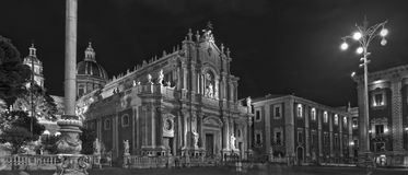 Cathedral of Catania,  italy  panoramic Royalty Free Stock Image