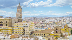 Panoramic view of the Cathedral of Malaga,Andalusia, Spain Royalty Free Stock Photo
