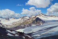 Panoramic view on Caucasus Mountain Range Royalty Free Stock Images