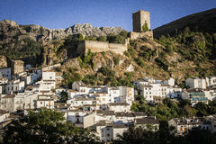 Panoramic View of Cazorla. And Castle Jaen Spain Royalty Free Stock Photos