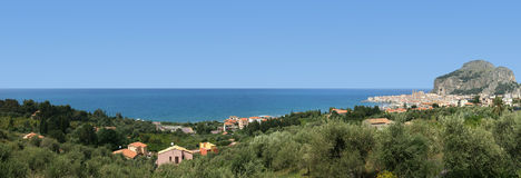 Panoramic view of the Cefalu Royalty Free Stock Photography