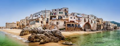 Cefalu, italy royalty free stock photography