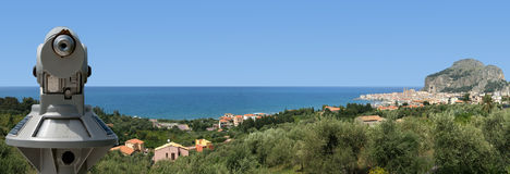 Panoramic view of the Cefalu. Sicily, Italy Royalty Free Stock Images