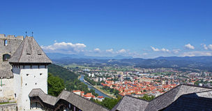 Panoramic view of Celje Stock Photos