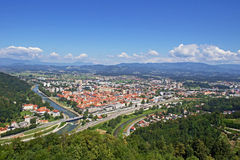 Panoramic view of Celje Royalty Free Stock Image