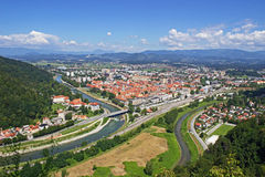 Panoramic view of Celje Stock Image