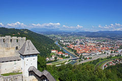 Panoramic view of Celje Royalty Free Stock Photos