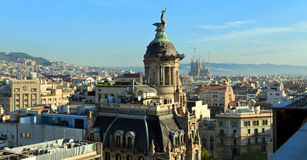 Panoramic view of the center of Barcelona. Spain Stock Photos