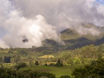 Panoramic view of the central Andean mountains of Colombia royalty free stock photos