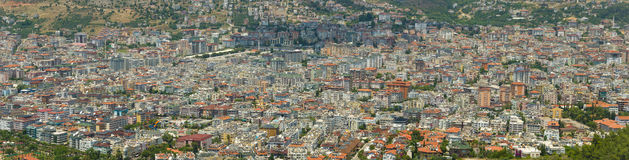 Panoramic view of the central districts of the resort town of Alanya. Royalty Free Stock Photos