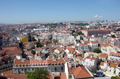Panoramic view of central Lisbon Stock Images