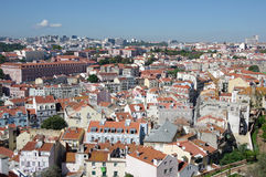 Panoramic view of central Lisbon Royalty Free Stock Photography