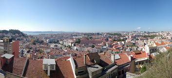 Panoramic view of central Lisbon Stock Photo